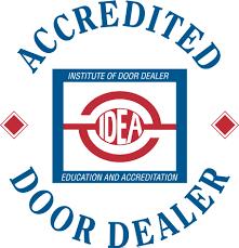 IDEA Accredited Door Dealer badge